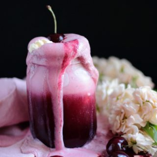 Cherry soda float