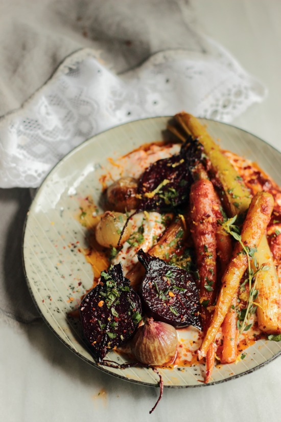 Harissa roast vegetables