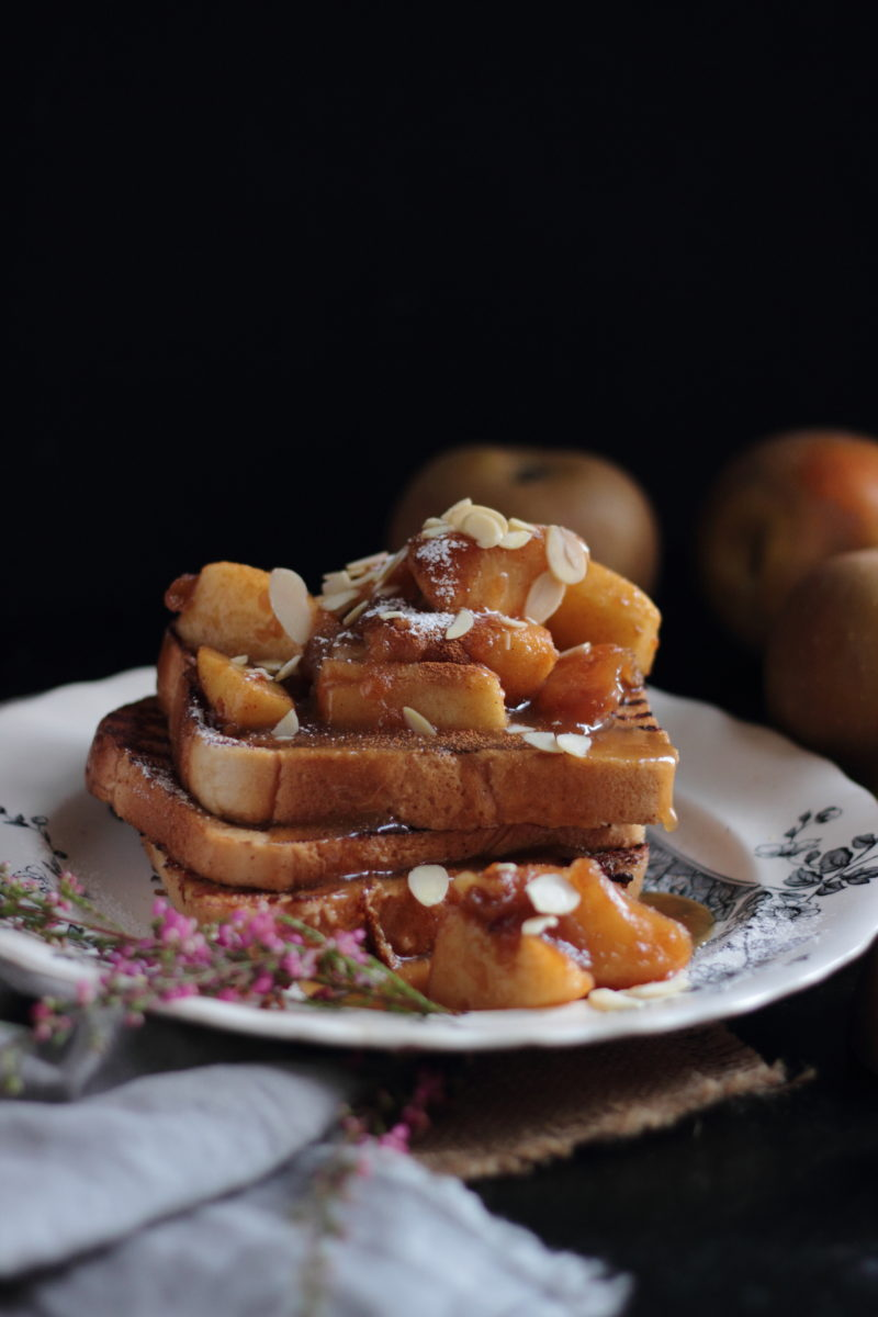 apple french toast and whisky caramel