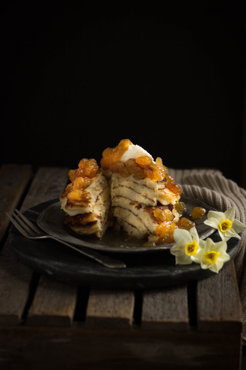 ... and Orange Pancakes with a Golden Sultana Compote | Figs & Pigs