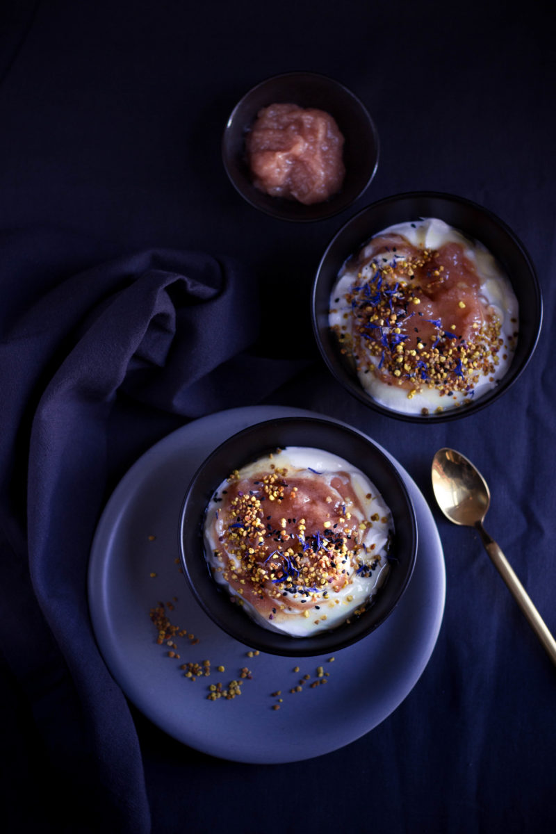 Pear butter yogurt bowls