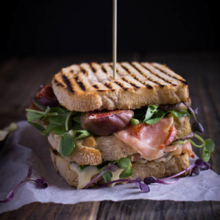 Caramelised Fig Crispy Prosciutto and Brie Sandwich