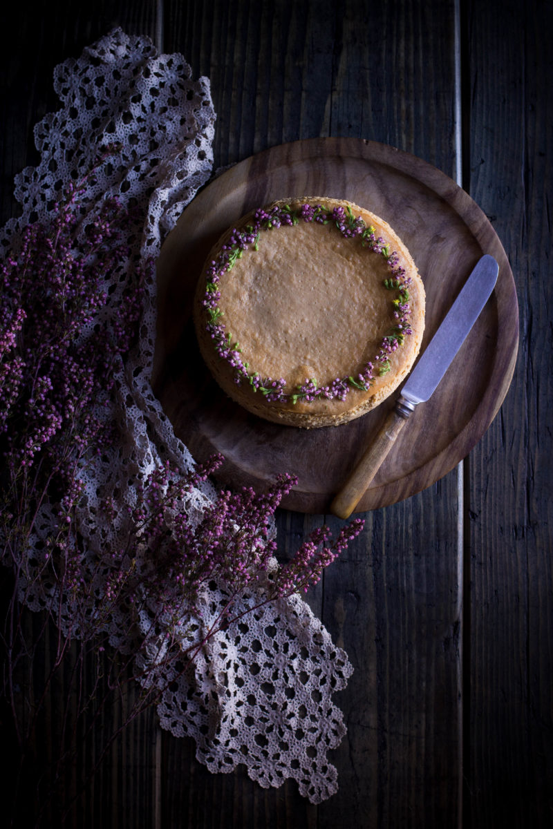 Pumpkin and tahini cheesecake