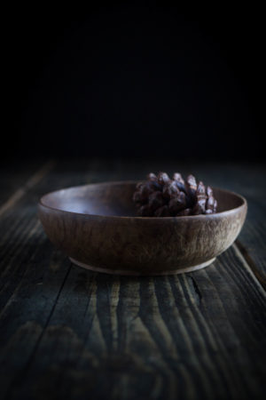 Small Dark wooden bowl